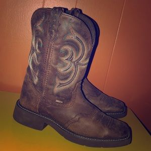 Justin Gypsy Brown Leather Cowboy Boots
